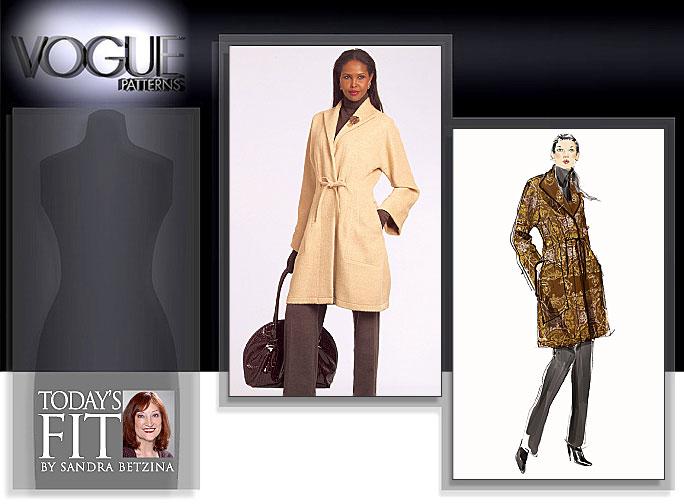 Vogue Patterns MISSES' COAT 1060
