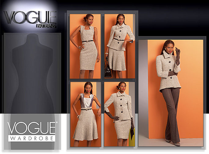 Vogue Patterns MISSES' JACKET, TOP, DRESS, SKIRT AND PANTS 1068