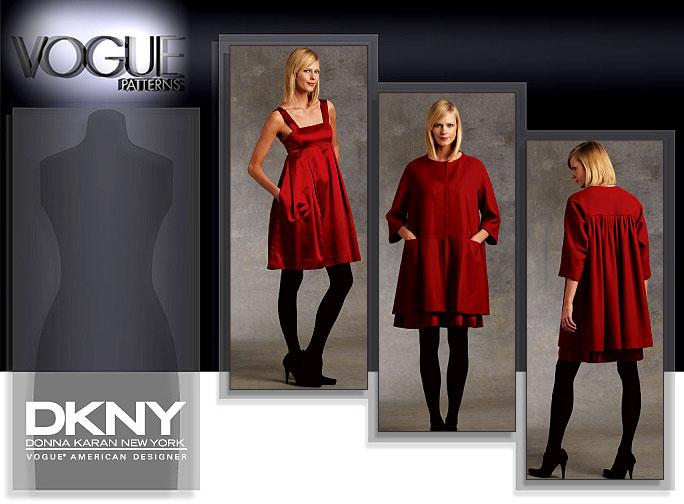 Vogue Patterns MISSES' COAT AND DRESS 1074