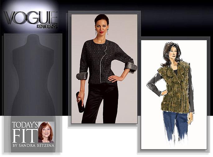 Vogue Patterns MISSES' BLOUSE AND VEST 1081