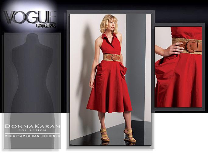 Vogue Patterns MISSES' DRESS AND STOLE 1088