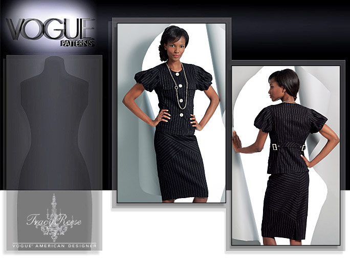 Vogue Patterns MISSES' TOP AND SKIRT 1092