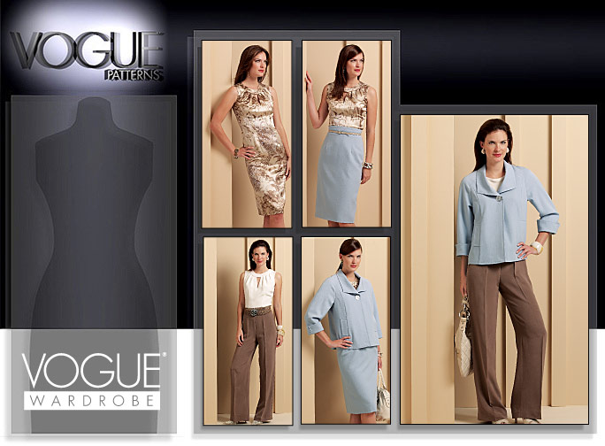 Vogue Patterns MISSES' JACKET, TOP, DRESS, SKIRT AND PANTS 1100