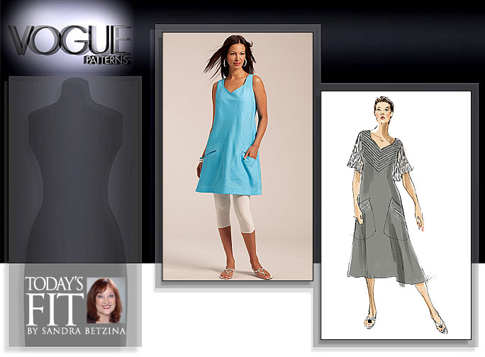 Vogue Patterns MISSES' TUNIC AND DRESS 1101