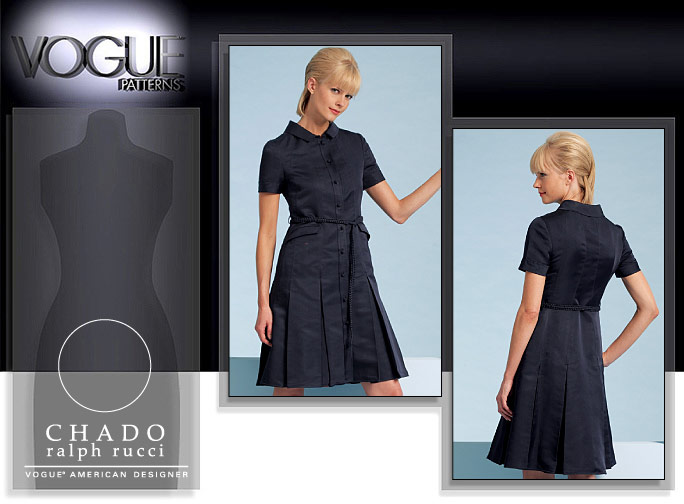 Vogue Patterns MISSES' DRESS AND BELT 1107