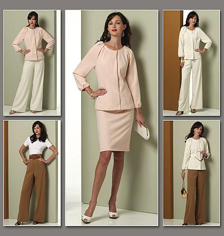 Vogue Patterns Misses' Jacket, Top, Skirt And Pants 1166