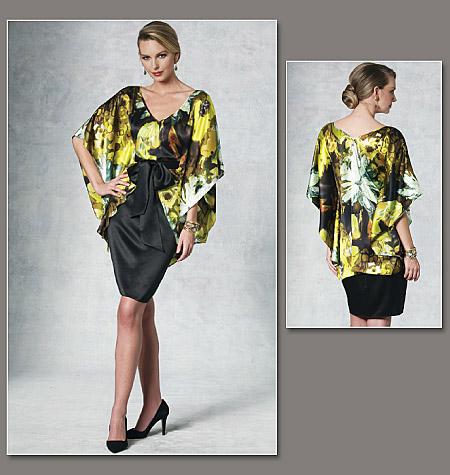 Vogue Patterns Misses' Top, Dress And Belt 1195