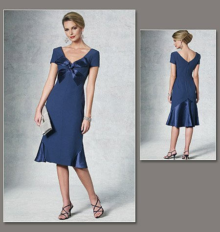 Mother Of The Bride Dress Patterns To Sew Vogue 57