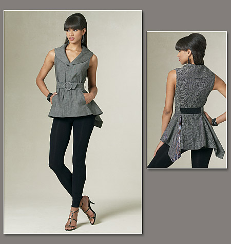 Vogue Patterns Misses' Top, Belt And Leggings 1214