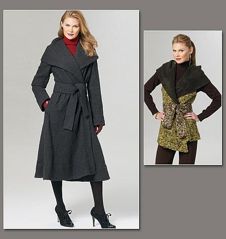 Vogue Patterns Misses Coat and Vest 1276