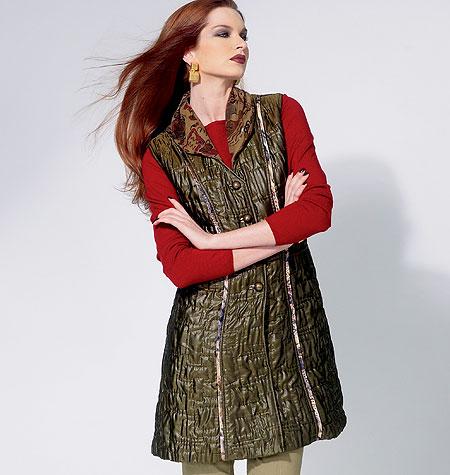Vogue Patterns Misses' Vest And Detachable Collar 1318