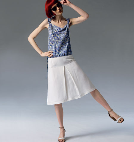 Vogue Patterns Misses' Top and Skirt 1357