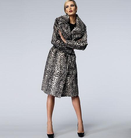 Vogue Patterns Misses' Coat and Belt 1365