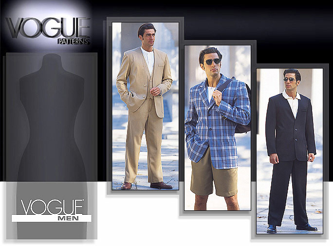 Vogue Patterns Men's Jacket, Vest, Shorts & Pants 1753