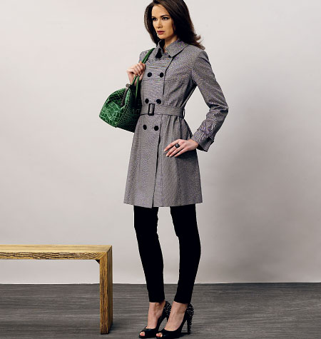 01/2011 Fitted coat with belt – Sewing Projects | BurdaStyle.com