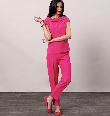 Vogue Patterns Misses' Top, Dress and Pants 8886