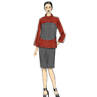 Vogue 9064 Pattern ( Size 6-8-10-12-14 )