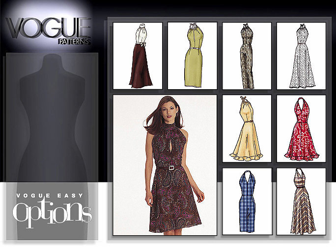 Vogue Patterns Vogue Options Halter Dress 2530