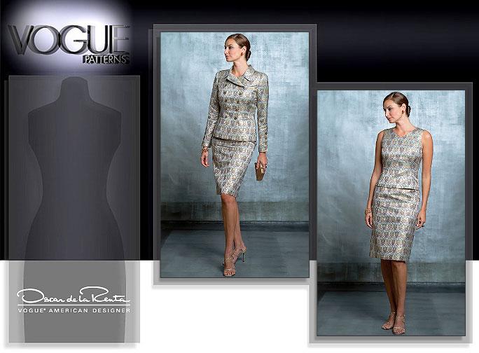 Vogue Patterns Oscar de la Renta 3 piece suit 2845