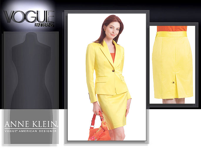 Vogue Patterns Anne Klein Jacket and Skirt 2853
