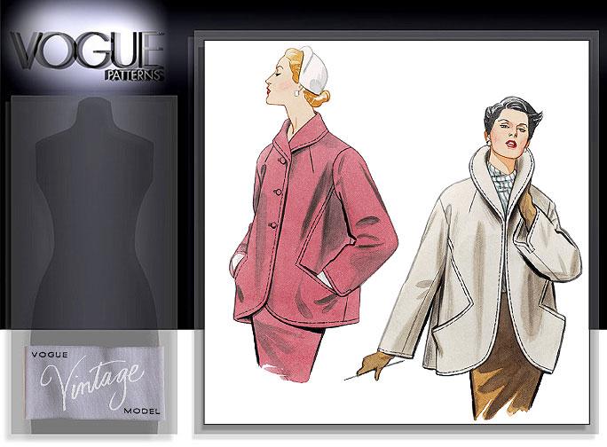 Vogue Patterns MISSES' JACKET 2884