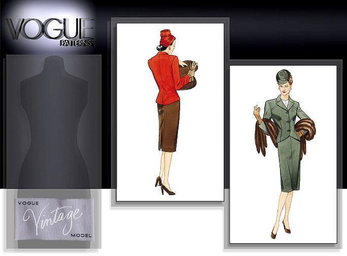 Vogue Patterns MISSES' JACKET AND SKIRT 2885