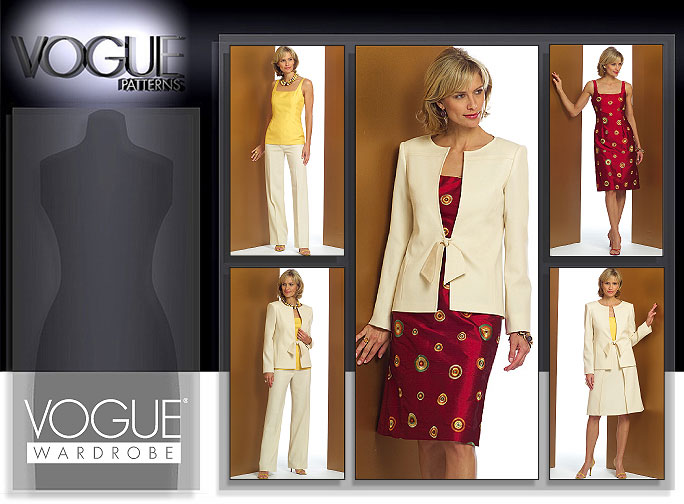 Vogue Patterns MISSES'/MISSES' PETITE JACKET, TOP, DRESS, SKIRT AND PANTS 2909