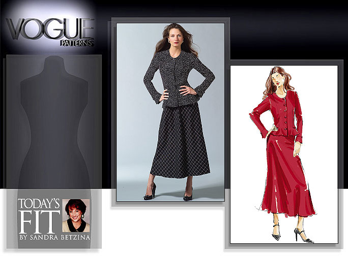 Vogue Patterns MISSES' BLOUSE AND SKIRT 2911