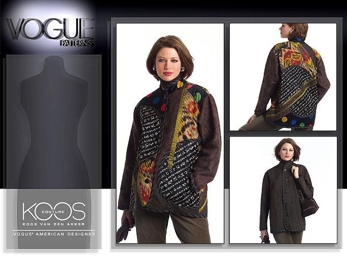 Vogue Patterns MISSES' REVERSIBLE COAT 2915