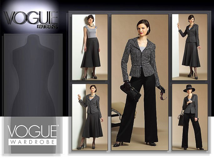 Vogue Patterns MISSES' JACKET, TOP, SKIRT AND PANTS 2925