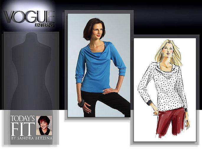 Vogue Patterns MISSES' TOP 2945