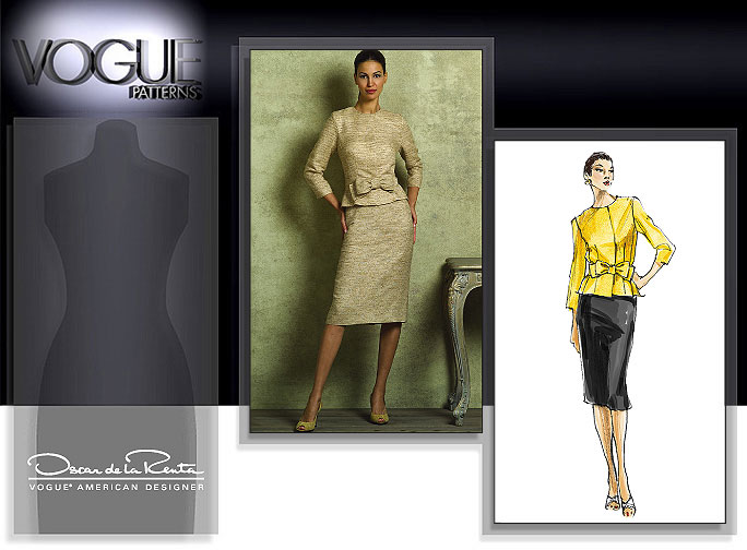 Vogue Patterns MISSES'/MISSES' PETITE JACKET AND SKIRT 2950