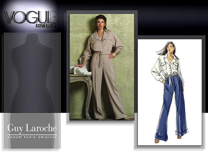 Vogue Patterns MISSES'/MISSES' PETITE JACKET AND PANTS 2955