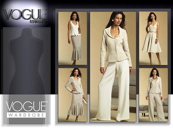 Vogue Patterns MISSES'/MISSES' PETITE JACKET, BUSTIER, DRESS, SKIRT AND PANTS 2958