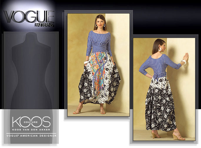 Vogue Patterns MISSES' TOP AND SKIRT 2971