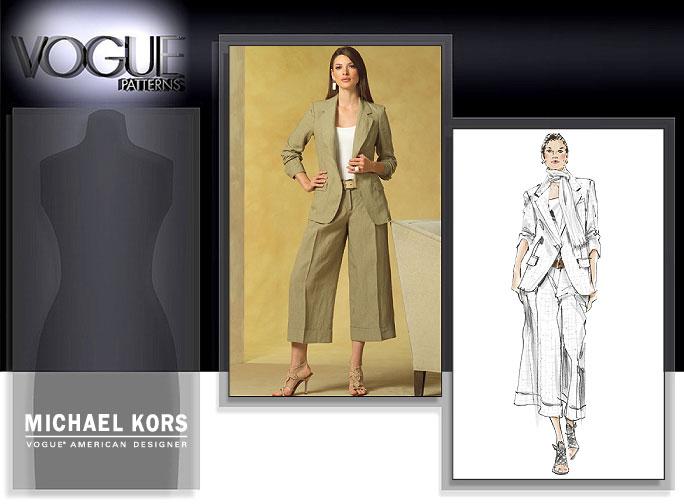 Vogue Patterns MISSES'/MISSES' PETITE JACKET AND PANTS 2974