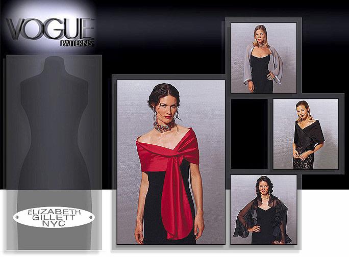 Vogue Patterns Evening Wraps 7161