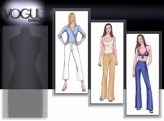Vogue Patterns Boot leg pants 7301