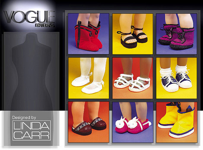 Vogue Patterns Doll Footwear 7329