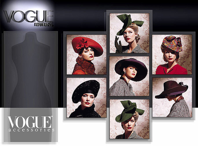 Vogue Patterns Vintage Hats 7464
