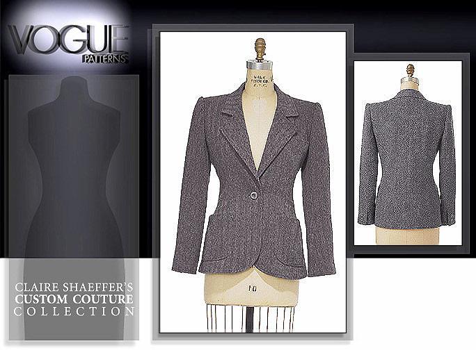 Vogue Patterns Claire Shaeffer couture jacket 7467