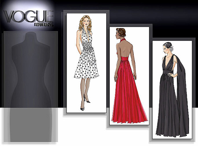 Vogue Patterns Misses' Lined Dress, Below Mid-Knee Or Floor-Length 7521