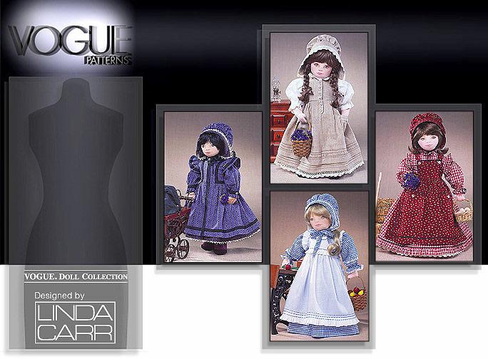 Vogue Patterns 18 inch (46cm) Doll Prairie Clothing 7564