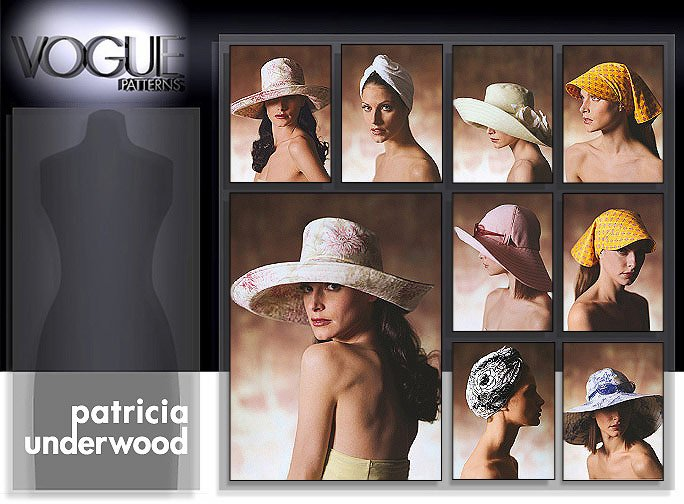 Vogue Patterns Sun Hats Package; All in sizes in 7600