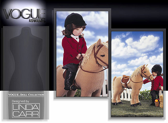 Vogue Patterns Horse For 18 inch Doll Package 7603