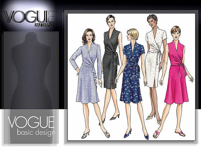 Vogue Patterns Misses' Dress, Below Mid-Knee 7693