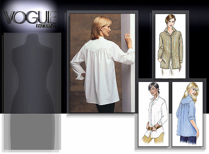 Vogue Patterns Misses'/Misses' Petite Very Loose-Fitting Shirt 7700