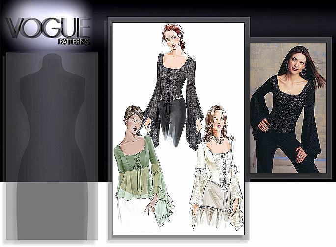 Vogue Patterns MISSES' TOP 7733