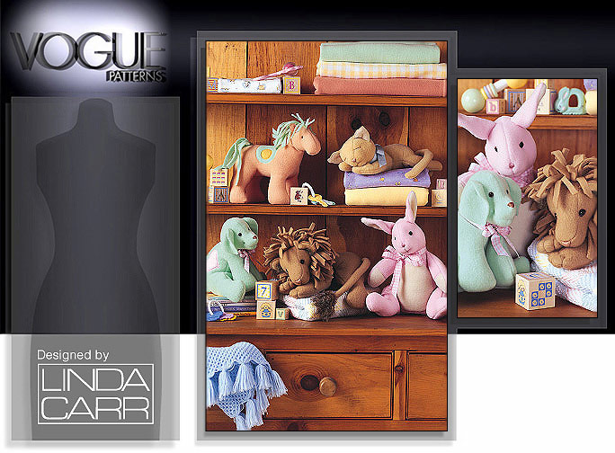 Vogue Patterns EASY ANIMALS FOR BABY 7760
