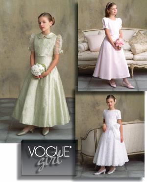 Vogue Patterns GIRLS' JACKET AND DRESS 7845
